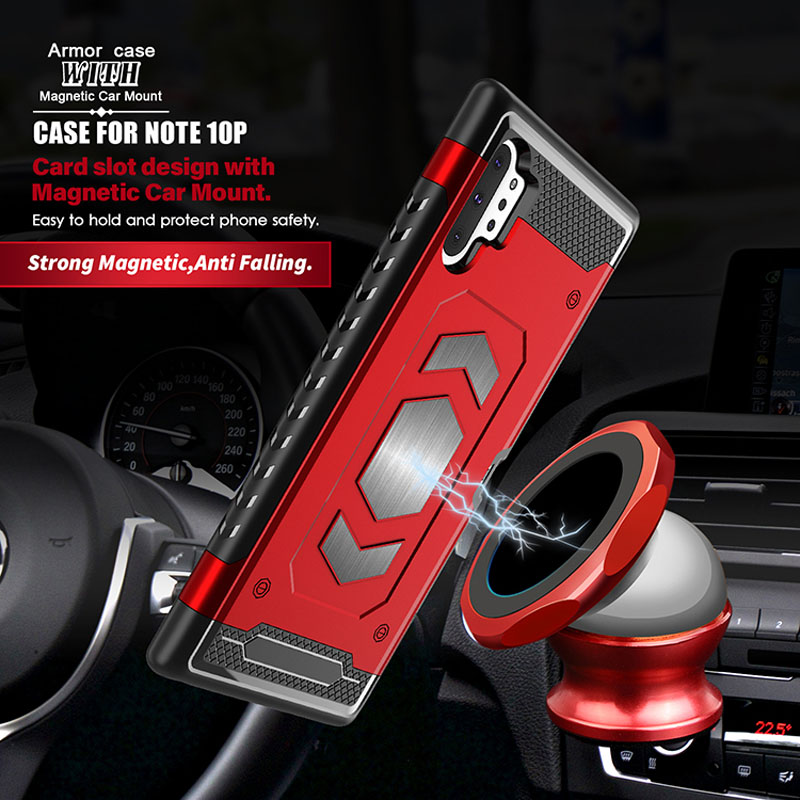 Car Armor Metal Magnetic Protective Case For <font><b>Samsung</b></font> Galaxy S10 S7 A6 A8 J4 J6 Plus Prime A7 A9 J3 J7 2018 J337 J737 <font><b>A530F</b></font> <font><b>Cover</b></font> image