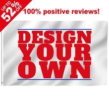 Bandera personalizada de 90X150cm, Banner de 3x5FT, poliéster volador, decoración deportiva, Impresión de regalo para fiestas, envío gratis