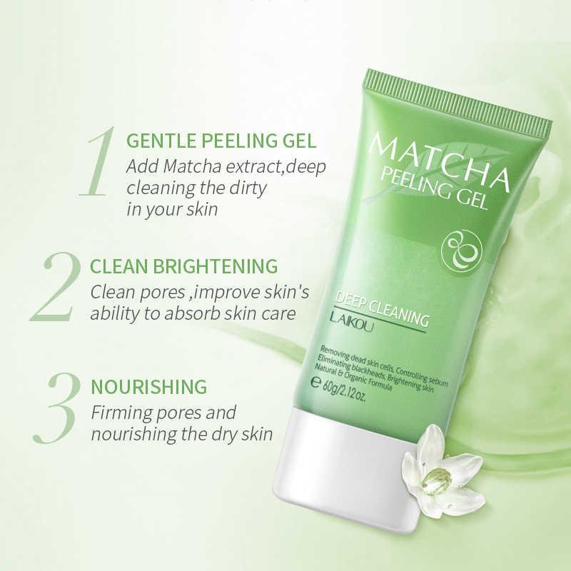LAIKOU Matcha Peeling Peeling Gel Gesichts Peeling Feuchtigkeits Bleaching Nährende Reparatur Scrubs Gesicht Creme Hautpflege