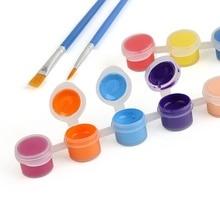 Acrylic Paints Graffiti 2-Brushs 12-Colors with DIY Pigment-Set