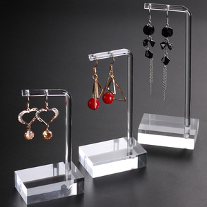 Clear Acrylic Hanging Earring Display Stand Jewelry Showing Case Earring Organizer Earring Holder Jewellery Stands