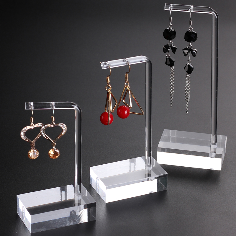 Clear Acrylic Hanging Earring Display Stand Jewelry Showing Case Earring Organizer Earring Props Jewellery Stands