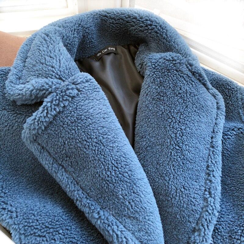 Image 5 - Winter Overcoat Women Faux Fur Coat Luxury Long Fur Coat teddy  Jacket Loose Lapel Shaggy Coat Plus Winter Thick Warm FluffyFaux Fur