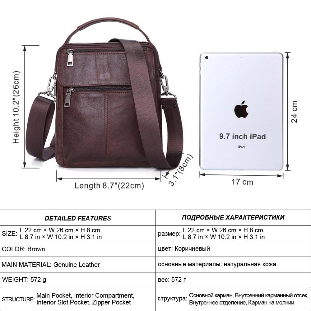 Image 2 - MISFITS Mens Messenger Bag fashion Waterproof zipper leather  shoulder Bag casual multi function business handbag mens NewCrossbody  Bags