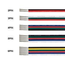 3 Pin для светодиодов ленточный кабель 2 4 5 6 Core кабель JST SM разъем Электрический кабель провод для WS2812B WS2811 RGB RGBW 5050 светодиодные ленты