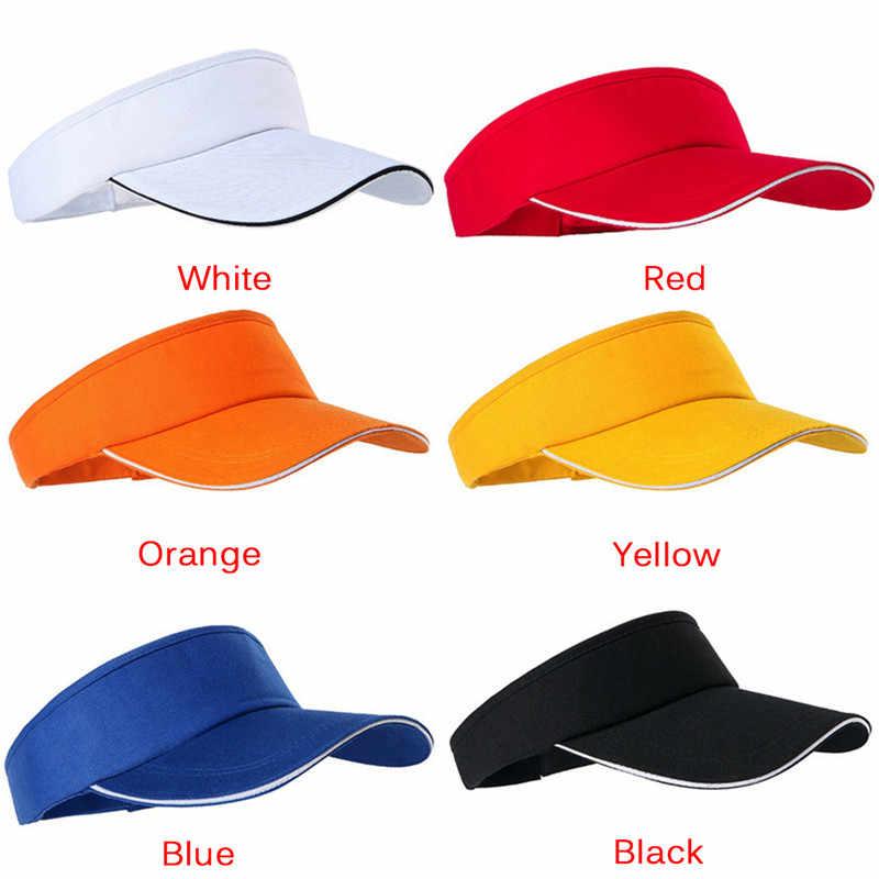 を実行するための男性の綿のキャップ調整可能なテニスゴルフホット販売ユニセックス空トップバイザーキャップ女性帽子