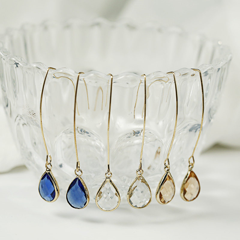 CARTER LISA Chram Women Crystal Drop Earrings For Female Earrings Water Drop Design Korea Luxury Jewelry HLEZ27000