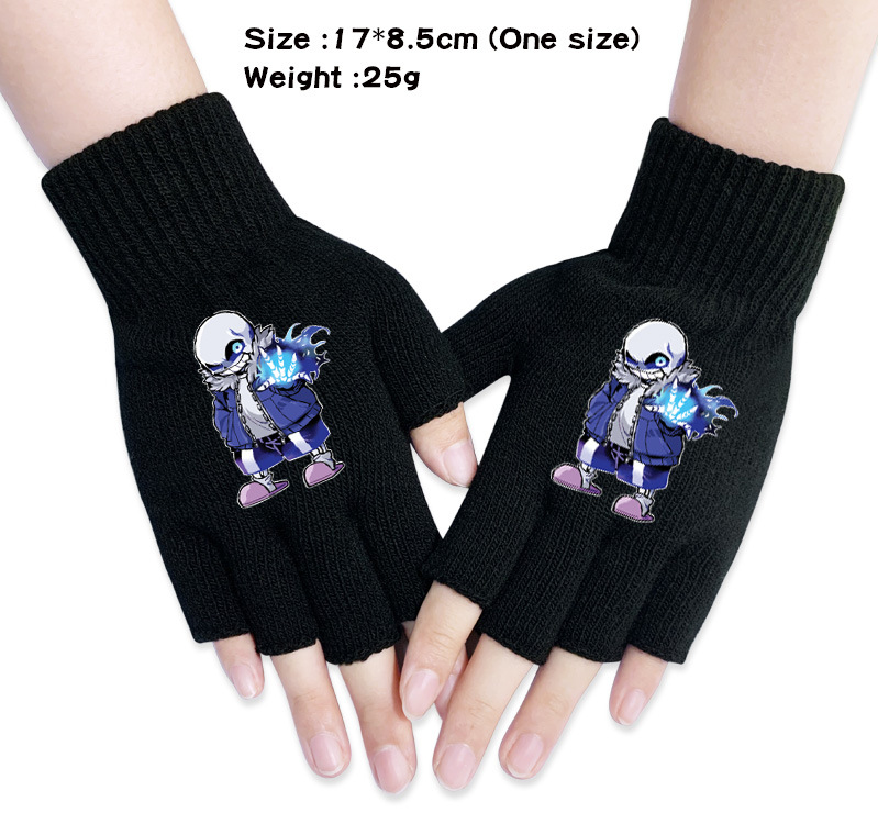 Fanct New Fashion Men And Women Mitten Mesh Gloves Without Fingers Warm For Winter Long Gloves