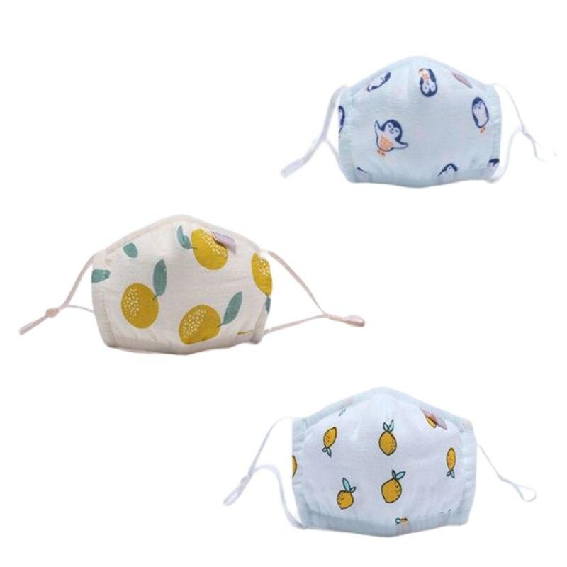 3 Pcs/box Baby Dust Mask Cotton Breathable Washable Kids Infant Warm Masks