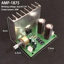KYYSLB AMP 1875 AC15V * 2 30W Mini Placa Amplificador Mono Placa De Amplificador de Potência com Radiador Pequeno
