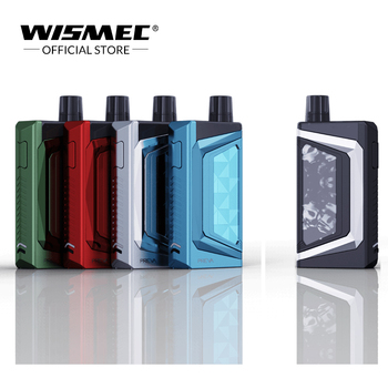 100% Wismec PREVA kit pod 3ml cartridge with WR01 Mesh 0.6ohm Coil Electronic Cigarette Vape wismec hiflask pod system vape kit wismec hiflask kit 2100mah all in one vaporizer electronic cigarette 5 6ml atomizer