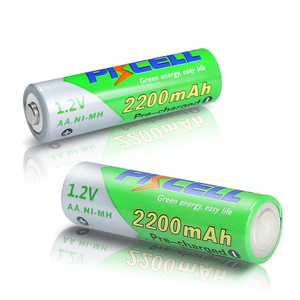 Image 5 - 8 個のx pkcell aa低自己放電バッテリーニッケル水素 1.2 v 2200 バッテリー単三充電式バッテリー 2 個バッテリー保持ケースボックス