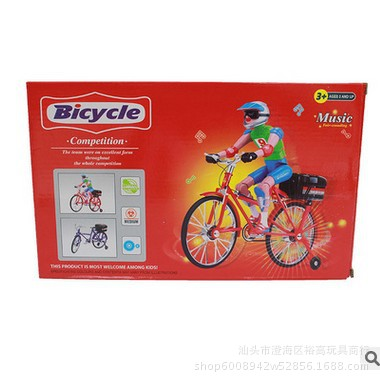 Model Electric Bicycle With Music Light Small Racing Car Strange New Stall Hot Selling Children'S Educational Toy Batch