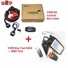 Xhorse VVDI инструмент для ключей, макс. Bluetooth дистанционный ключевой программатор с супер чипом транспондером XT27 8A кабель блока управления для всех ключей