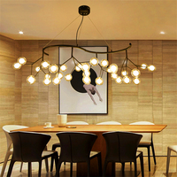 Nordic LED Glass Pendant Light Dining Room Kitchen Fixtures LED Pendant Lamp Romantic Firefly Hanging Lamp Avize Lustre Lighting