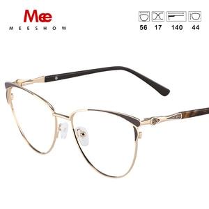 Image 3 - MEESHOW Glasses Frame Brand women cat eyes Prescription Eyeglasses Female Myopia Optical Frames Clear Spectacles Eyewear 2020