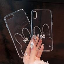 Dla iphone X XS MAX XR diamentowy Bling śliczny telefon komórkowy skrzynki pokrywa dla IPhone 11 Pro Max 4 4S 5 5S SE 2020 6S 6 7 8 Plus XS tanie tanio udapakoo APPLE CN (pochodzenie) for iphone ZDOBIONE przezroczyste for iPhone 4 4S 5 5S SE 5C 6 6S 6 plus 7 7 Plus Rhinestone +pc