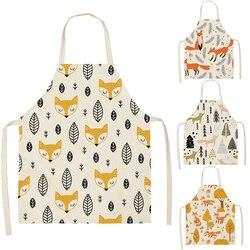 Фартук с изображением листьев, кошек, для женщин, для взрослых и детей, нагрудники для дома, для приготовления пищи, для выпечки, для уборки, к...