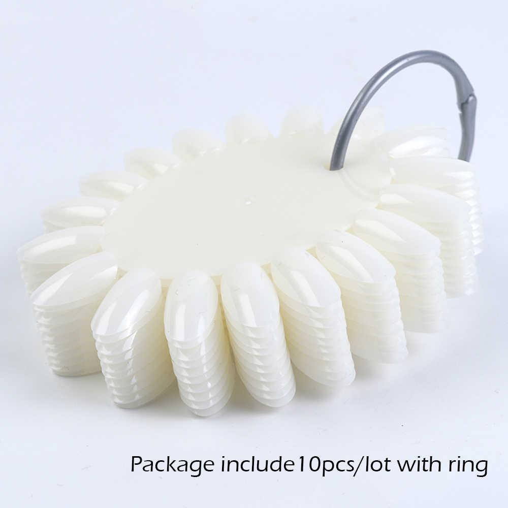 10 шт Круглые накладные ногти для маникюра, дисплей, колесо, накладные лаки для ногтей, цветная акриловая Палитра с кольцом для маникюра SA1513