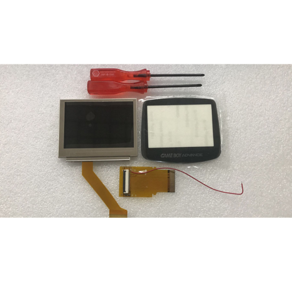 10pcs AGS 101 Highlit Screen LCD Backlit Brighter with 40pin/32pin cable and glass For GameBoy Advance LCD Screen For GBA SP