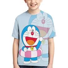 printer Doraemon plus size t shirt cute ladies/mens social t shirt Doraemon plush women/men t shirt