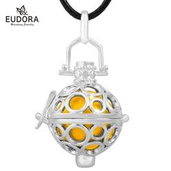 Eudora 20mm bolha gaiola pingente harmonia gravidez bola bola bola bola bola bola ajuste diy feminino anjo chamador mãe jóias finas h109