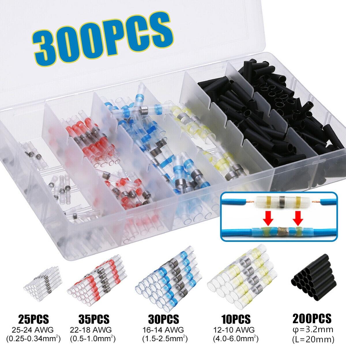 10pcs 16-14AWG Waterproof Solder Sleeve Heat Shrink Butt Wire Splice Connector J