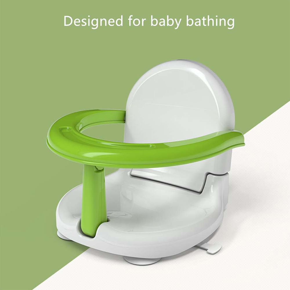 Portable Baby Shower Seat Eating Safety Chair Shower Folding Non-slip Safety Multifunctional Toy Bath Seat Support Plastic