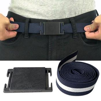 Nylon Tactical Men Belt 2020 Plain Canvas Military Web Belt Solid Black Magnetic belt buckle Mens Womens Casual Black Belts