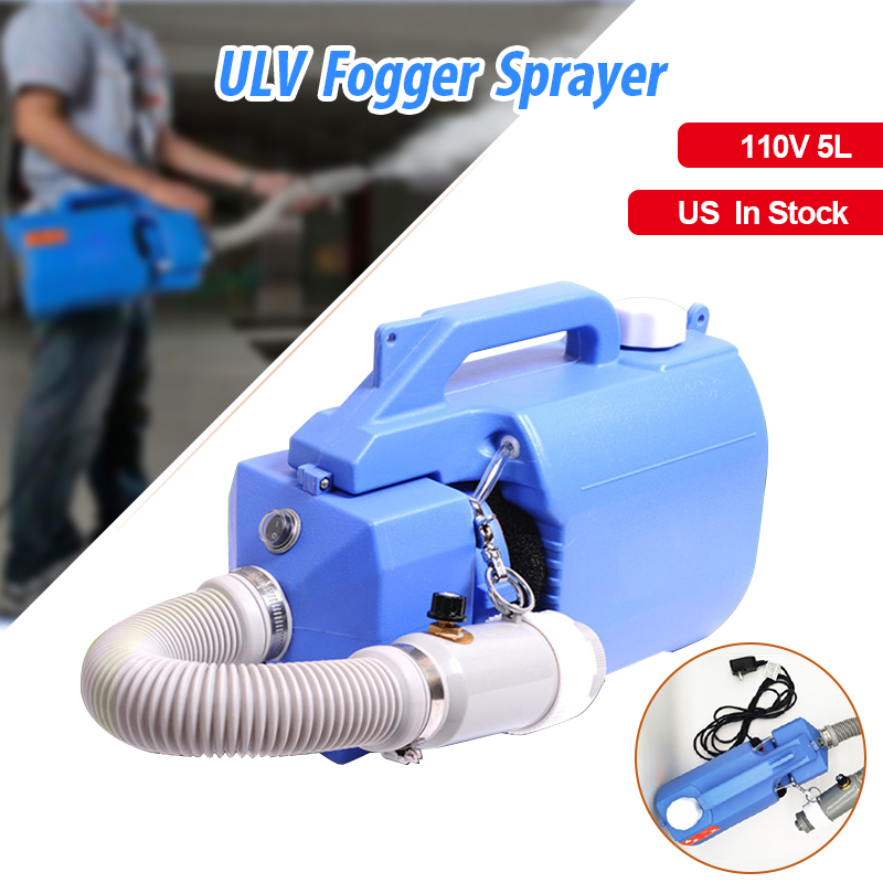 1000W 110V US Plug Electric Cold ULV Sprayer Fogger Machine 5L Capacity Mosquito Killer Handheld Disinfection Machine