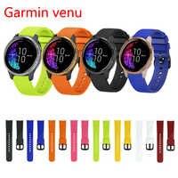 20mm watch Strap For Garmin venu vivoactive3 hr Forerunner 645 Gear s2 4 Silicone watchband wrist bracelet huawei watch gt2 42mm