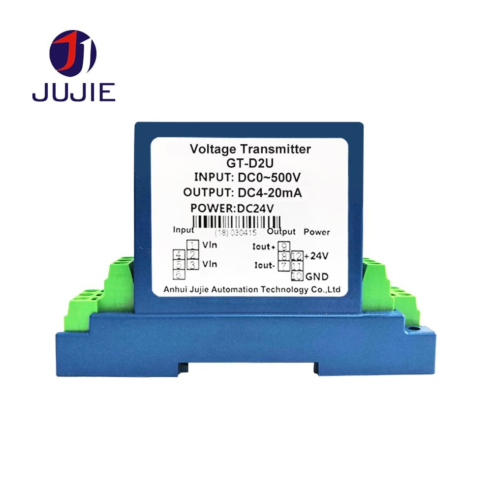 DC Voltage Transducer Voltage Sensor Transmitter Transformer Input 0-1000V DC Output 0-20mA DC