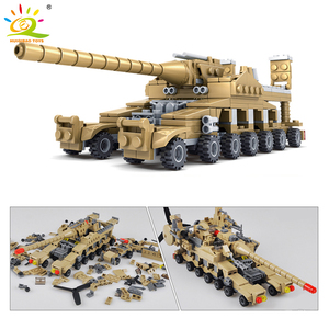 Image 2 - HUIQIBAO 544pcs 16 ב 1 צבאי נשק סופר טנקי אבני בניין מכלול סטי צעצועי לבנים חינוכיים לילדים ילדים