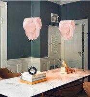 hanging lamp pink pendant lamp metal light