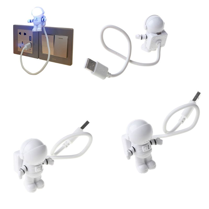 Creative Spaceman Astronaut LED Flexible USB Light Night Light for Kids Toy Laptop PC Notebook 3