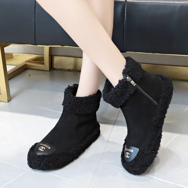 Women Boots 2019 New Plush Snow Boots For Winter Shoes Women Casual Lightweight Ankle Botas Mujer Warm Winter Boots Female 92