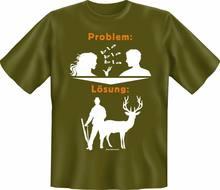 T-shirt Chasseur problème Losung Fun, Haut Cadeau, impression Cornee