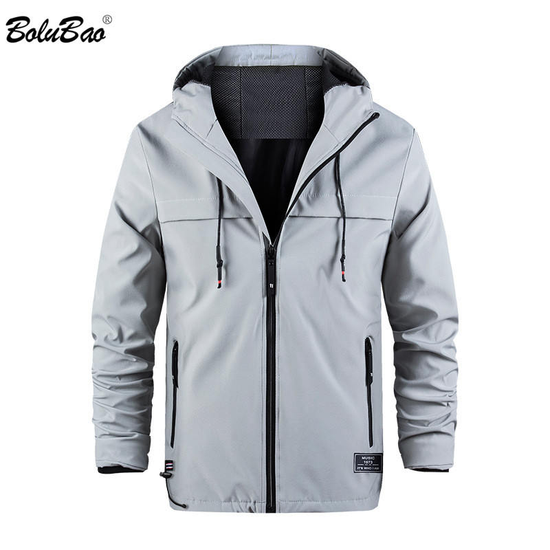 Мужская куртка с капюшоном BOLUBAO, повседневная однотонная приталенная куртка с капюшоном, весна 2019