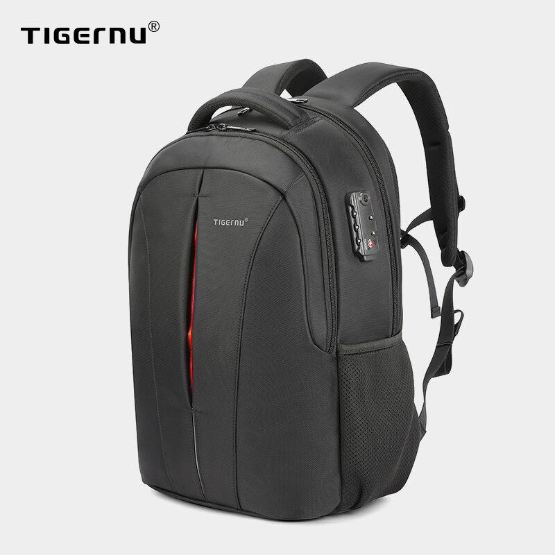 Tigernu USB Recharging Men 15.6 inch Laptop Backpacks Student Schoolbag For Boys Waterproof Quality Male Rucksack Mochila Bag