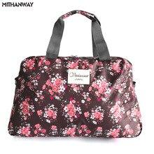 Women Lady Large Capacity Floral Duffel Totes Sport Bag Mult