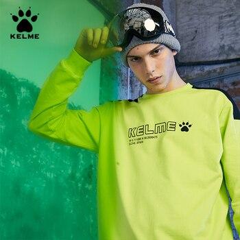 KELME Men's Crewneck Sweatshirt Men Side Striped Patchwork Casual Sweatshirts Male Tracksuit Streetwear Hoodie Men худи 36931050