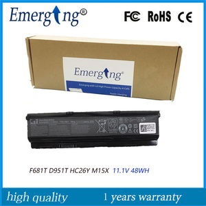 48WH Original New Laptop Battery F681T for Dell Alienware M15X P08G SQU-724 D951T SQU-722 T779R T780R HC26Y NGPHW W3VX3