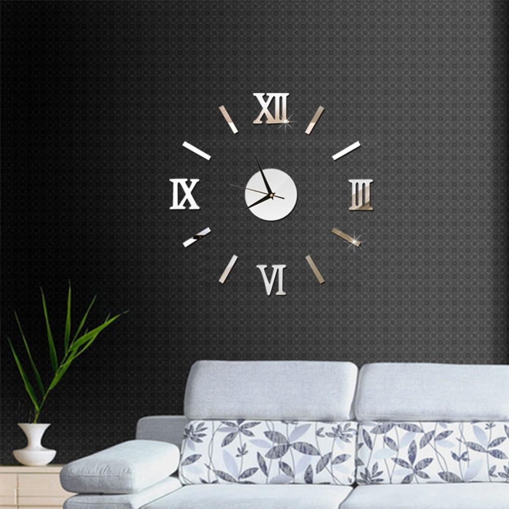 3D Wall Clock Mirror Wall Stickers Fashion Living Room Quartz Watch DIY Home Decoration Clocks Sticker reloj de pared 8