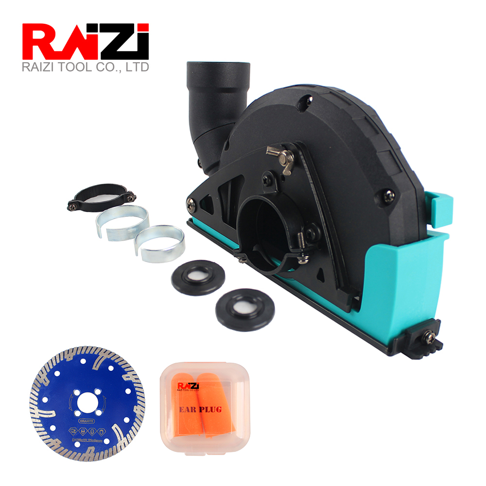 Raizi Cutting Dust Shroud For Angle Grinder Cover Tool With 115/125 Mm Diamond Saw Blade Dust Collector Attachment
