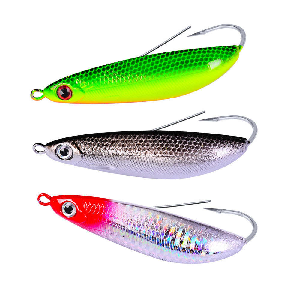 YUZI 1PCS Crepitio Minnow Spoon Richiamo di Pesca D'acqua Dolce Acqua Salata Weedless Crankbait Snapper Hard Bait Wobblers