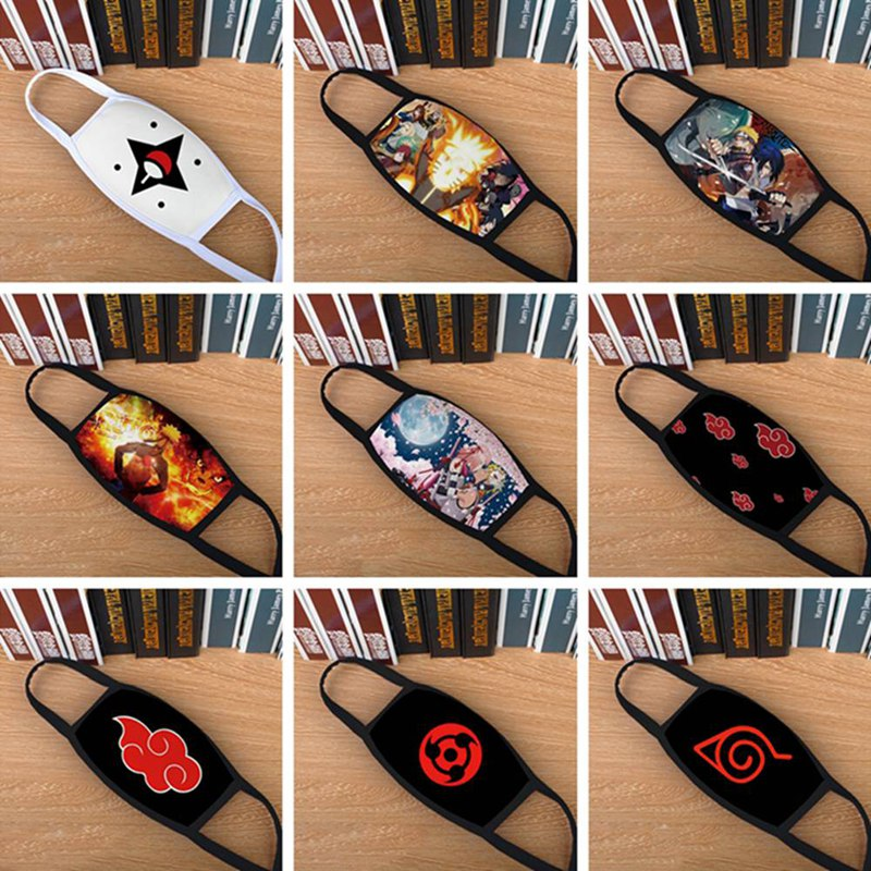 Anime Naruto Mask Cartoon Surrounding Cotton Mouth Mask Dustproof Anti-fog Facial Cover Breathable Face Mask Dropship New