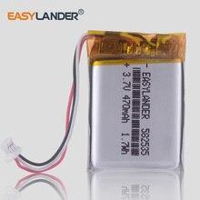 Batería de polímero de litio recargable para coche, dispositivo de carga de 3,7 V, 470mAh, 602535, para GPS MiVue 366, 368, 388 Mio, 358P, 658p, papago HP F210, F300, F200