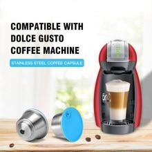 Cápsula de café rellenable para máquina de café Dolce Gusto, taza de filtro de acero inoxidable reutilizable para máquina de café Nescafé
