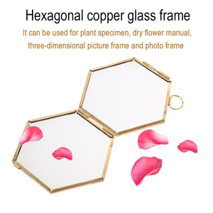 Photo Frame Wall Glass Shape Hexagon For Display Picture Painting Diary Embroidery Flower Dry Home Decorations
