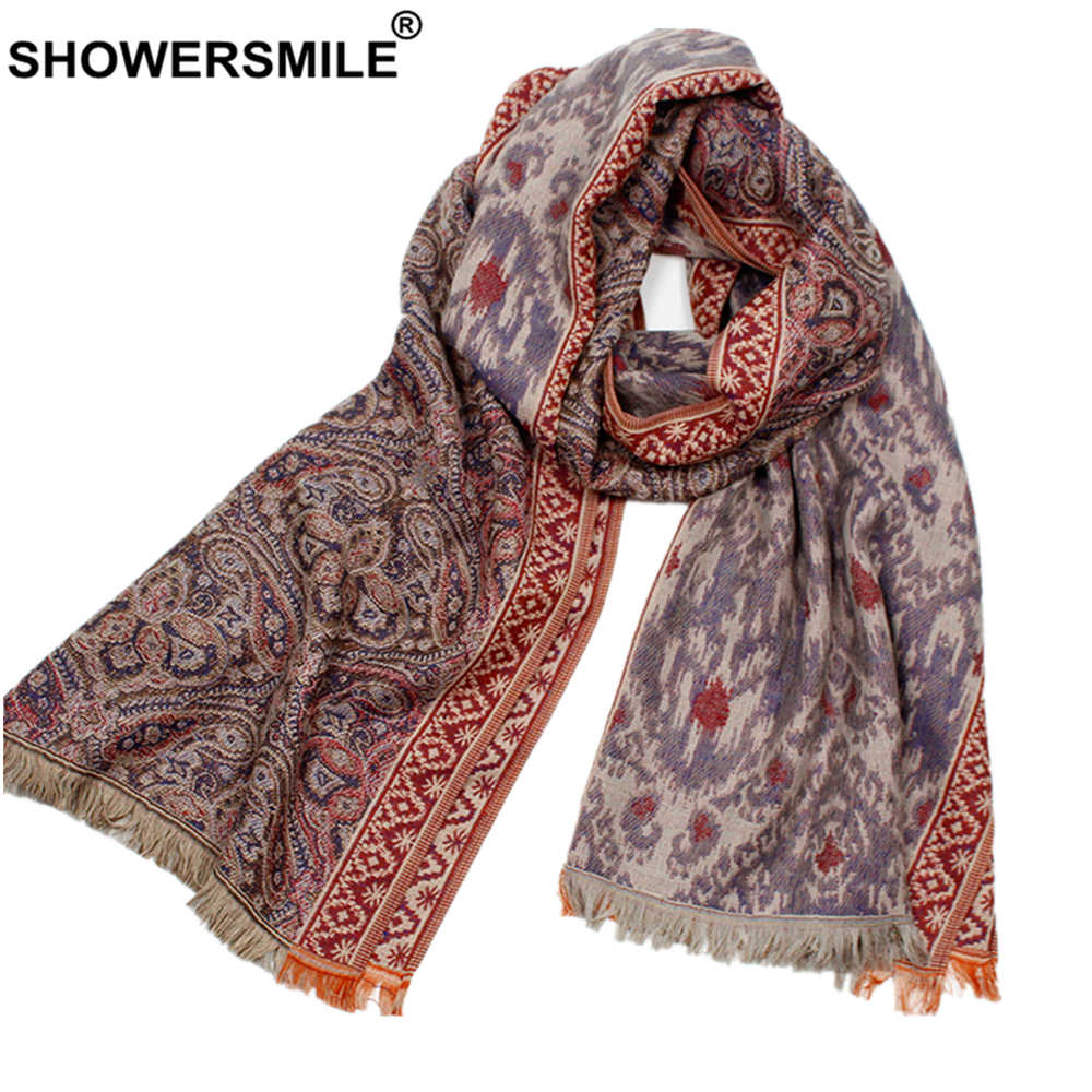 SHOWERSMILE Scarf Women Ethnic Style Ladies Scarves Fashion Women's Shawl 180cm*70cm